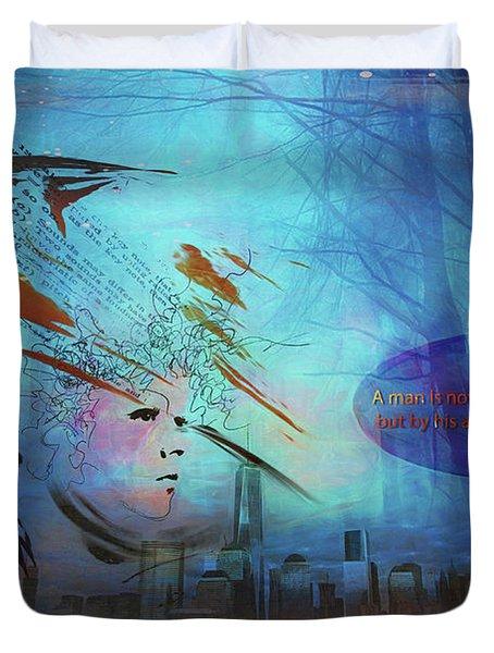 Man Is Art Duvet Cover