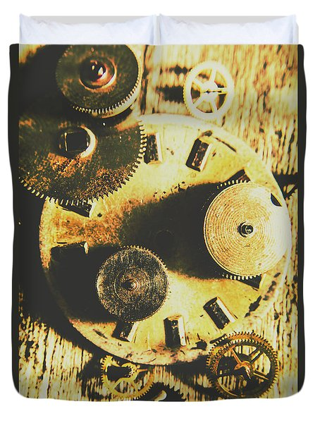 Man Made Time Duvet Cover