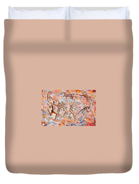 Man Unaware Of His Own Karma Duvet Cover by Darwin Leon