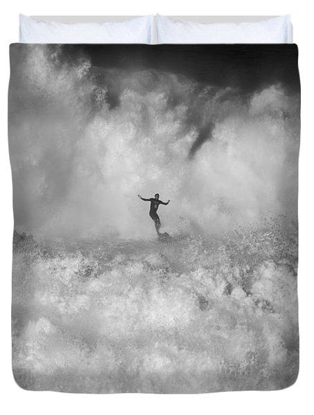 Man Vs Nature Duvet Cover