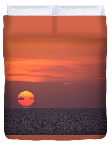 Manasota Key Sunset Duvet Cover