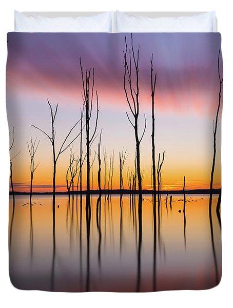 Manasquan Reservoir Long Exposure Duvet Cover