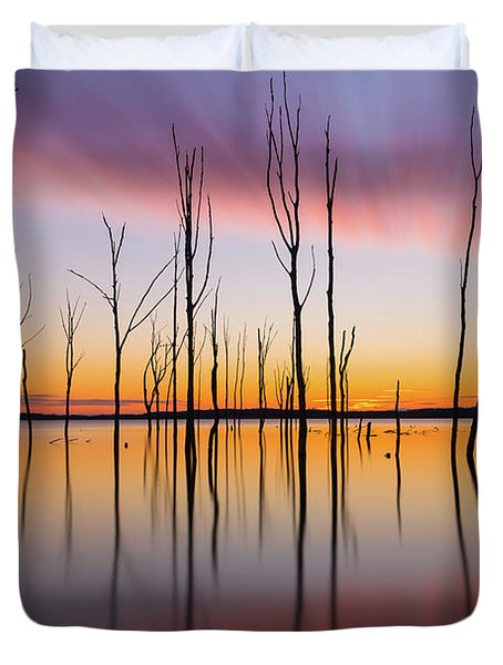 Manasquan Reservoir Long Exposure Duvet Cover