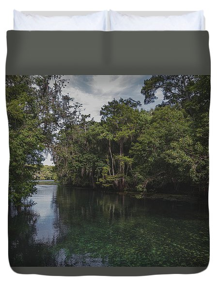 Manatee Springs Duvet Cover