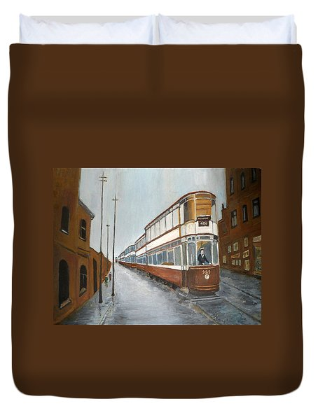 Manchester Piccadilly Tram Duvet Cover