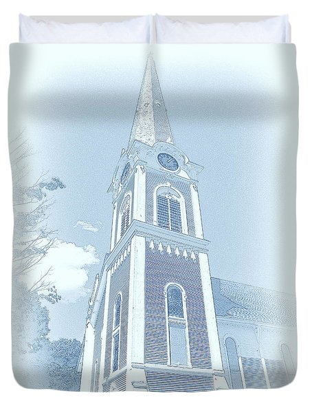 Manchester Vt Church Duvet Cover
