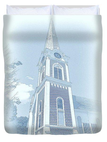 Manchester Vt Church Duvet Cover