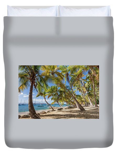 Manchioneel Bay, Cooper Island Duvet Cover