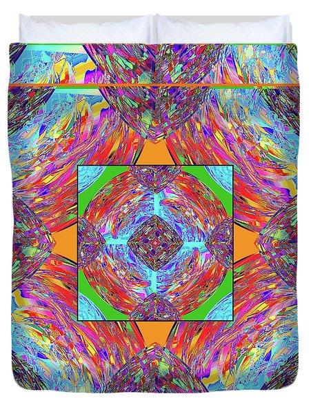Duvet Cover featuring the digital art Mandala #1 by Loko Suederdiek