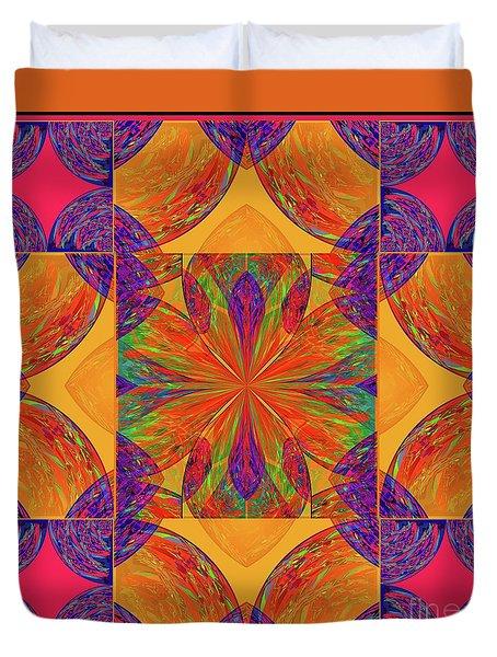 Duvet Cover featuring the digital art Mandala #2  by Loko Suederdiek