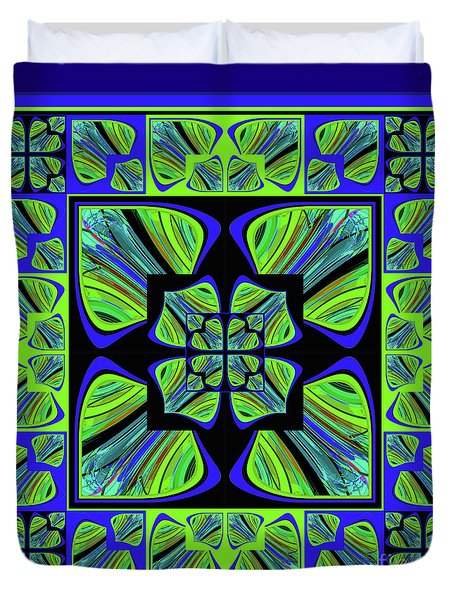 Duvet Cover featuring the digital art Mandala #22 by Loko Suederdiek
