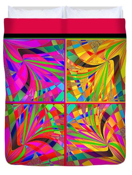 Duvet Cover featuring the digital art Mandala #25 by Loko Suederdiek