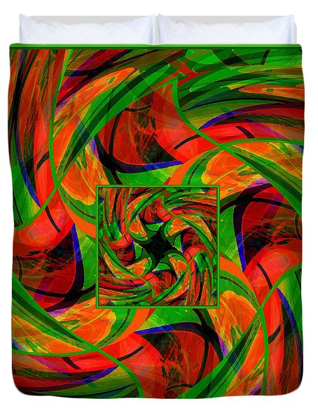 Duvet Cover featuring the digital art Mandala #36 by Loko Suederdiek