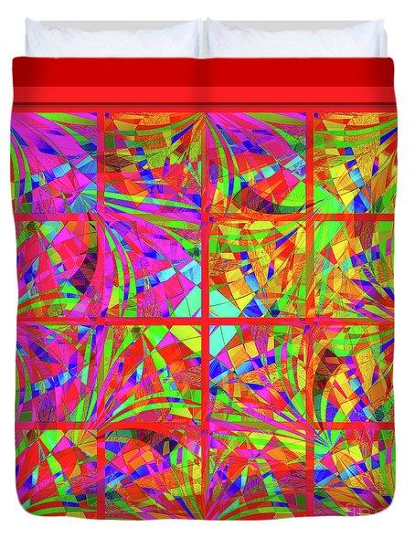 Duvet Cover featuring the digital art Mandala #48 by Loko Suederdiek