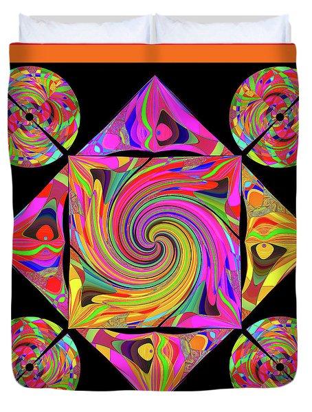 Duvet Cover featuring the digital art Mandala #50 by Loko Suederdiek