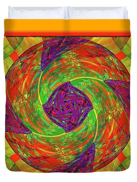 Duvet Cover featuring the digital art Mandala #55 by Loko Suederdiek
