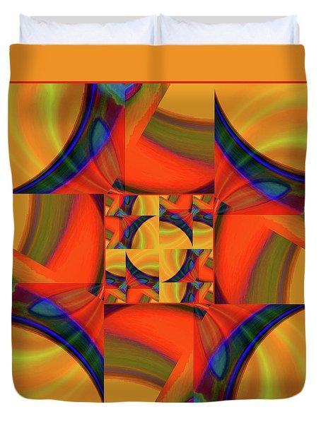 Duvet Cover featuring the digital art Mandala #56 by Loko Suederdiek