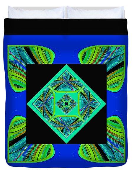 Duvet Cover featuring the digital art Mandala #6 by Loko Suederdiek