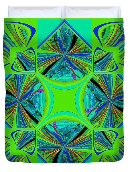 Duvet Cover featuring the digital art Mandala #7 by Loko Suederdiek