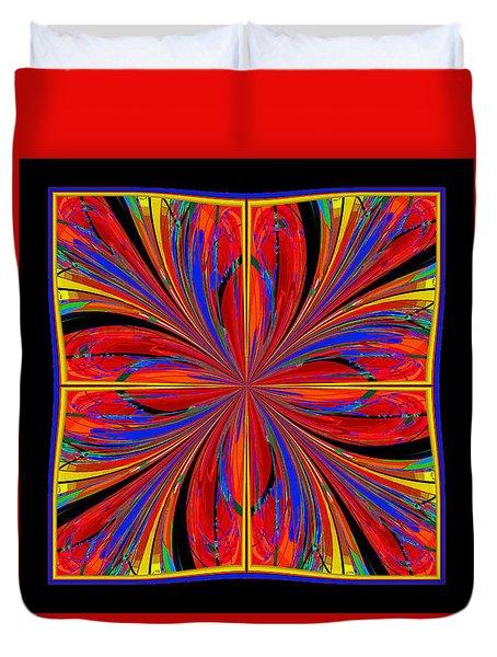 Duvet Cover featuring the digital art Mandala #8 by Loko Suederdiek