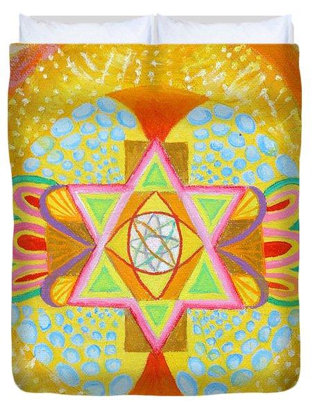 Mandala Detail From Gestation Duvet Cover
