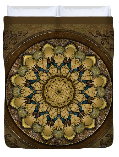 Mandala Earth Shell Duvet Cover