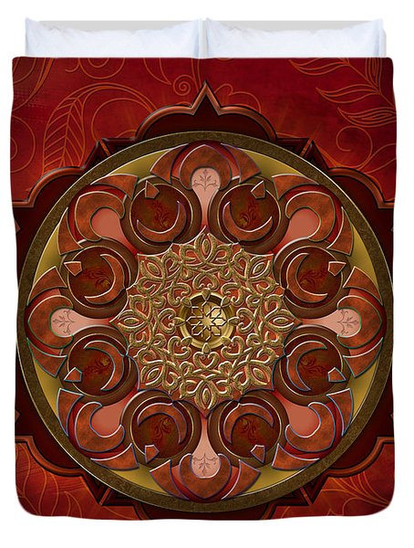 Mandala Flames Sp Duvet Cover