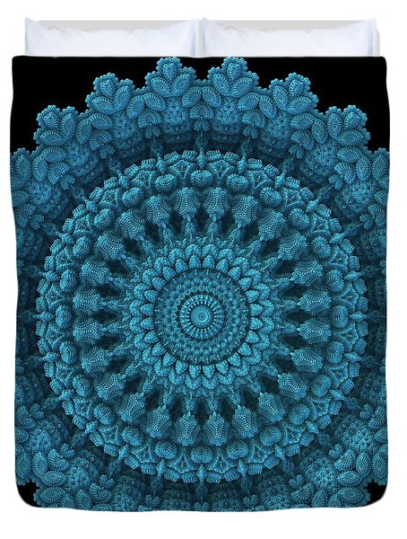 Duvet Cover featuring the digital art Mandala For The Masses by Lyle Hatch