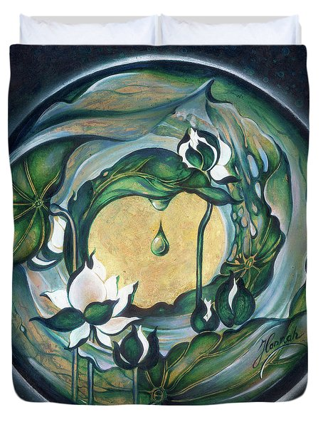 Mandala Of Regeneration Duvet Cover by Anna Ewa Miarczynska