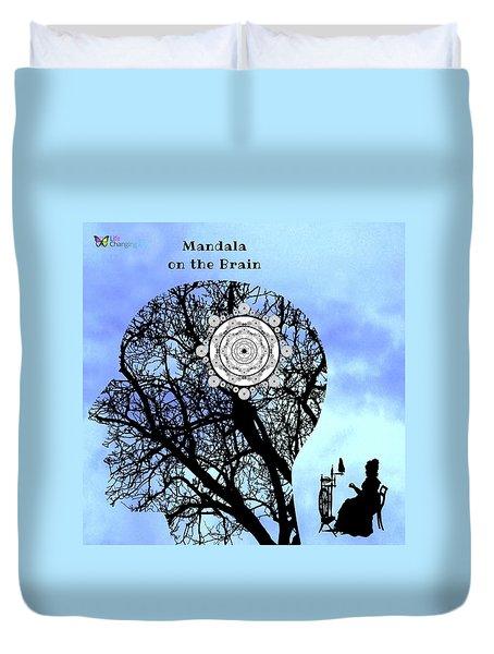 Mandala On The Brain Duvet Cover