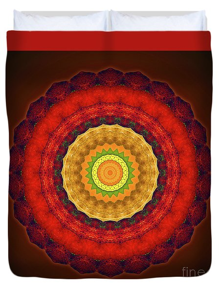 Mandala - Red Yellow Balance Duvet Cover
