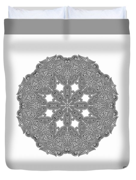 Mandala To Color Duvet Cover by Mo T