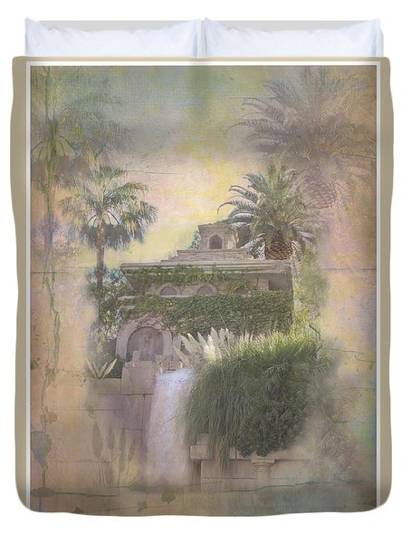 Duvet Cover featuring the digital art Mandalay Bay by Christina Lihani