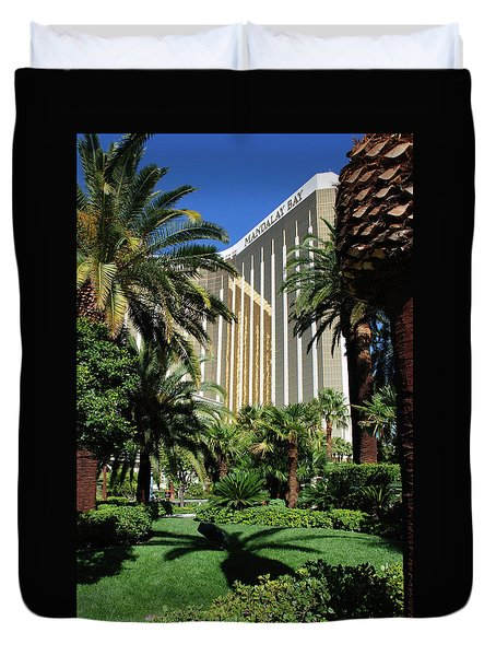Duvet Cover featuring the photograph Mandalay Bay Hotel by John Schneider
