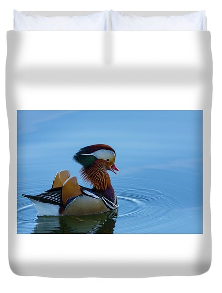 Majestic Mandarin Duck Duvet Cover