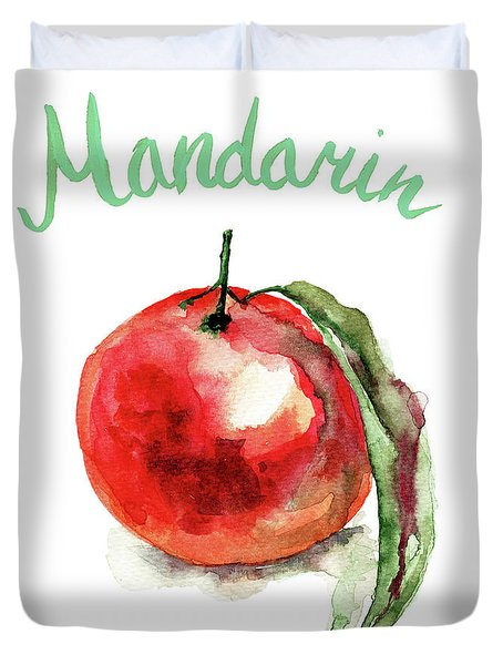 Mandarin Fruits Duvet Cover