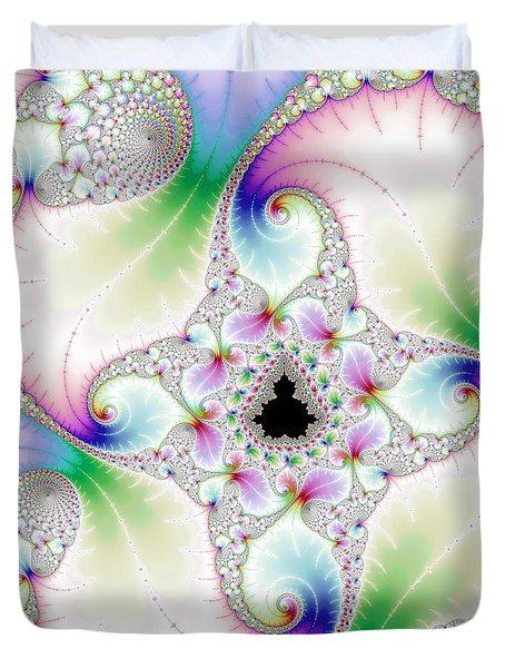 Mandebrot In Pastel Fractal Wonderland Duvet Cover