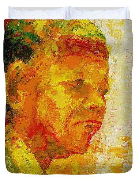 Mandela Duvet Cover by Bayo Iribhogbe