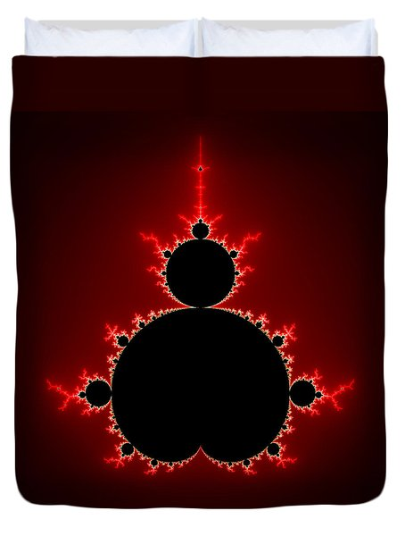 Mandelbrot Set Black And Red Square Format Duvet Cover