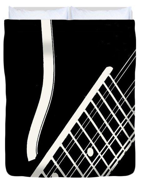 Mandolin Close Bw Duvet Cover