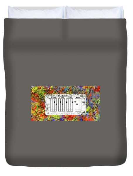 Mandolin- The Basic Chords Duvet Cover by Trilby Cole