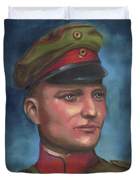 Manfred Von Richthofen The Red Baron Duvet Cover