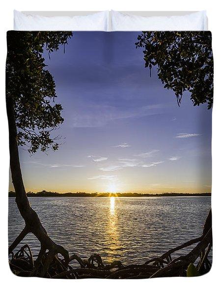 Mangrove Frame Duvet Cover by Nick  Shirghio