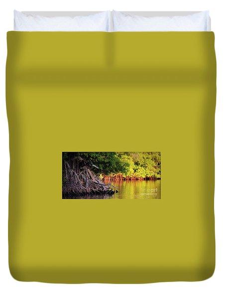 Mangroves Of Roatan Duvet Cover by Doug Sturgess