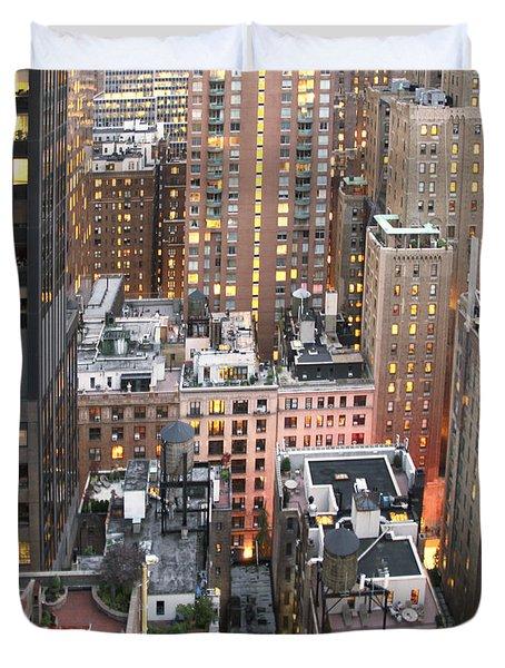 Manhattan At Dusk Duvet Cover
