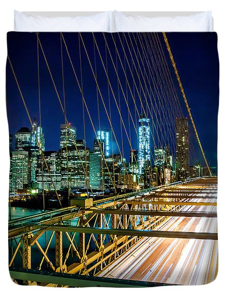Manhattan Bound Duvet Cover