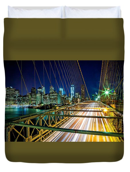 Manhattan Bound Duvet Cover