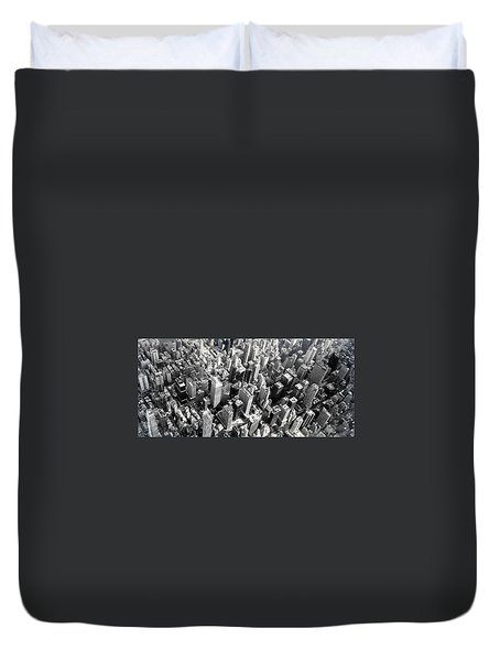 Duvet Cover featuring the photograph Manhattan  by Chris Fraser