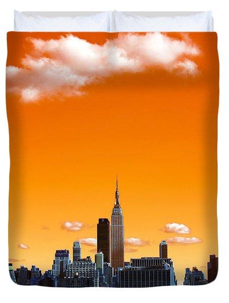 Manhattan Days Pop Art Duvet Cover