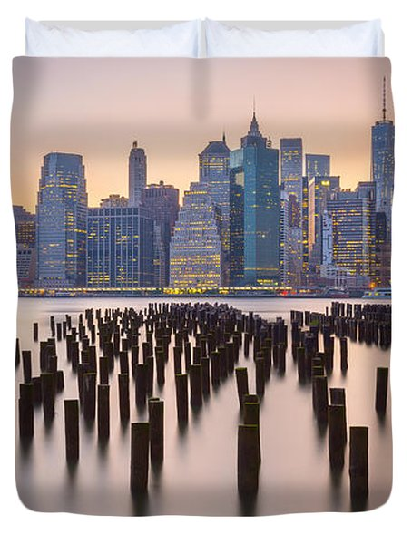 Manhattan Dusk Duvet Cover